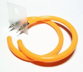 Naušnice Retro oranžové - střední - Bižuterie, nášivky, skřipce, vlásenky, gumičky, čelenky
