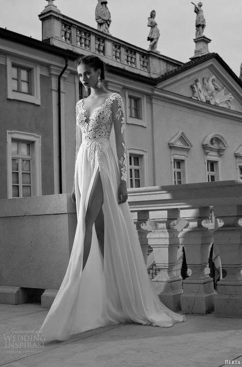 Trendy na rok 2015 - suknia ślubna z rozcięciem!