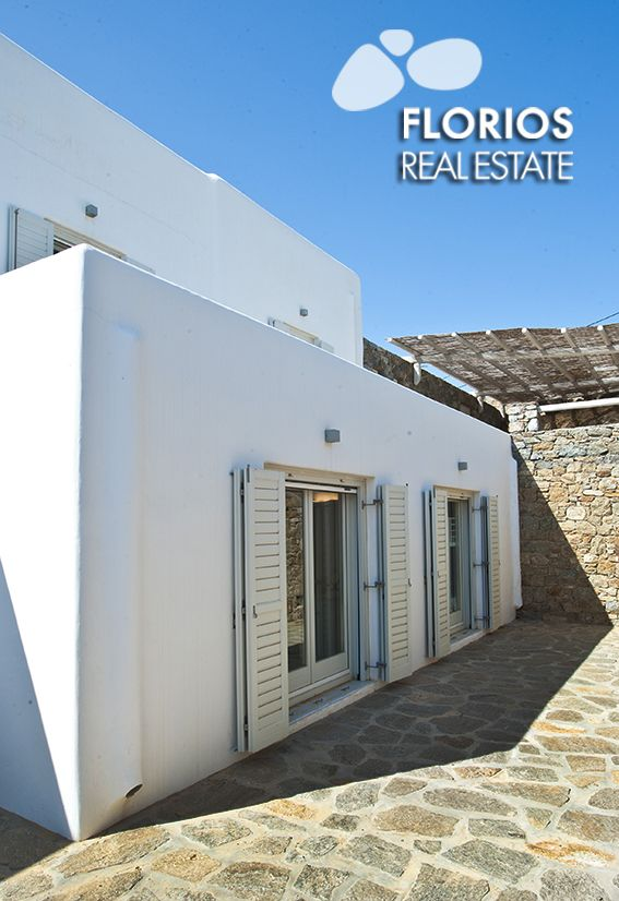 The property is located on the hills north-east of Mykonos Town, near the church of Agia Sophia, only 2 km from the center of the town and 10 km from the Mykonos Airport. The villa has four bedrooms and sleeps 12 people and is suitable for children over 5. Villa for Sale on Mykonos island Greece. FL1486 http://www.florios.gr/en/mykonos-property/9.html