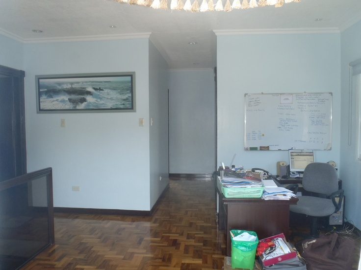 Family/office area with corridor to bedrooms