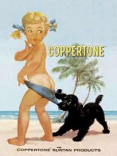 U.S. The Coppertone Girl, 1959  //  painted by Joyce Ballantyne Brand for the Grant Advertising agency.