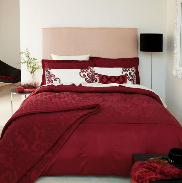 Dark Red Bedding sets