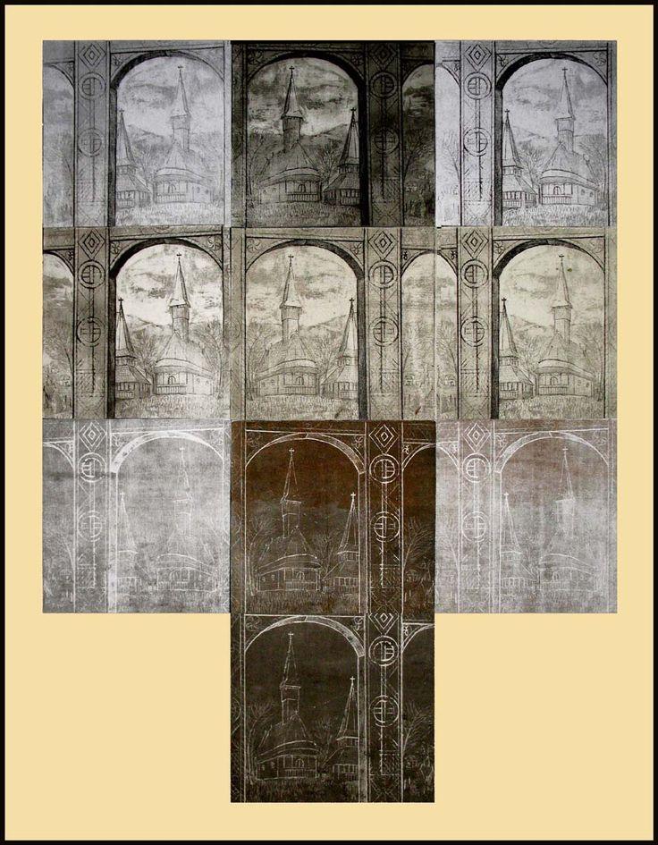 biserici din maramures 1.aquaforte si aquatinta