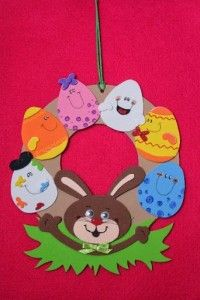 easter wreath craft