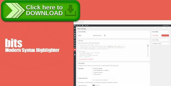 [ThemeForest]Free nulled download Modern Syntax Highlighter from http://zippyfile.download/f.php?id=49068 Tags: ecommerce, bits, clivern, highlighter js, modern highlighter, prism highlighter, syntax highlighter, wp highlighter
