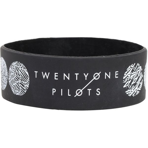Twenty One Pilots Blurryface Rubber Bracelet Hot Topic (£4.82) ❤ liked on Polyvore featuring jewelry, bracelets, roaring twenties jewelry, black bangles, 1920s jewelry, 1920s style jewelry and black jewelry