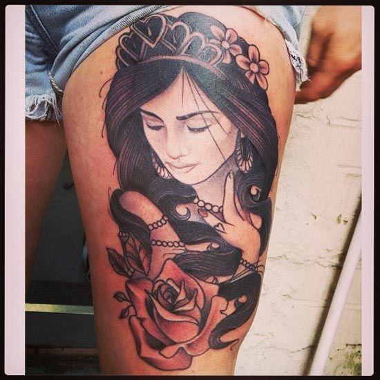 25 Beautiful Thigh Tattoos For Women Ideas On Pinterest -1417