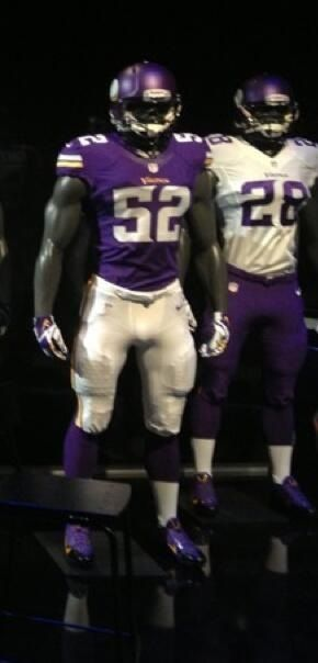 Minnesota Vikings reveal their new uniform for 2013.