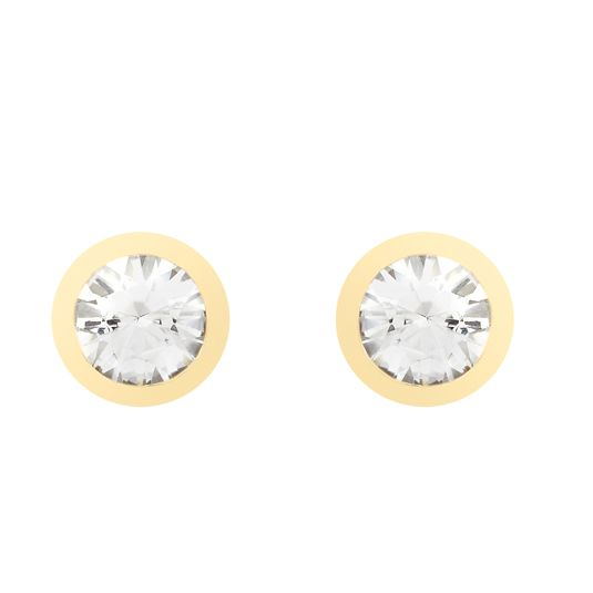 18 CARAT YELLOW GOLD DIAMOND EARRINGS