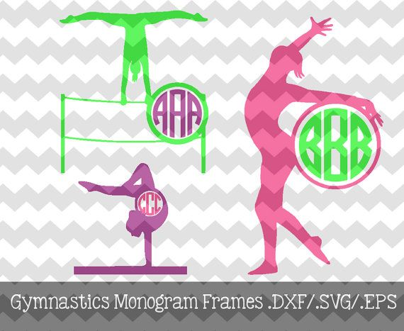 The Gymnastics Circle Monogram file is for use with your Silhouette Studio Software or other programs that can read .dxf or .svg files. This