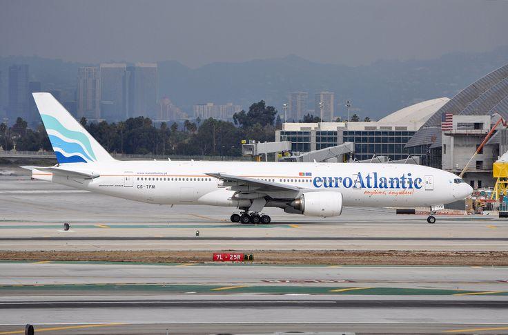 EuroAtlantic 777-212ER at LAX on November 17, 2012.