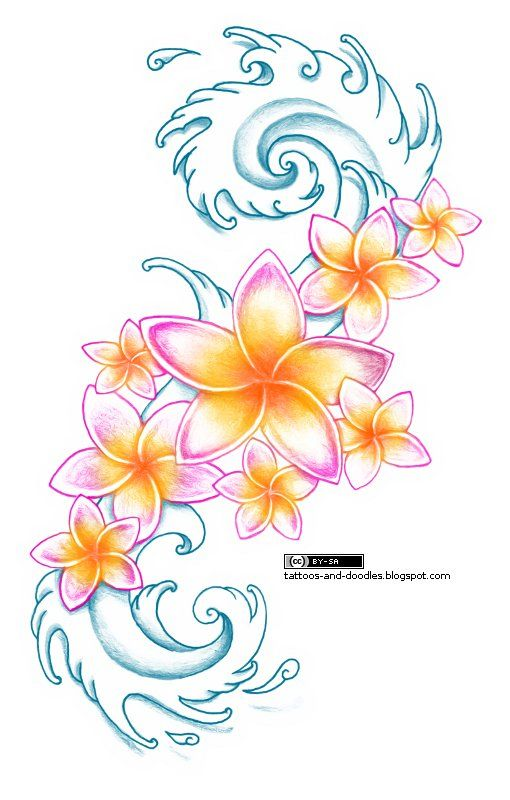 """Original description [unedited]: """"plumeria tatoo - Google Search."""" You will certainly not regret this one! Ever!"""