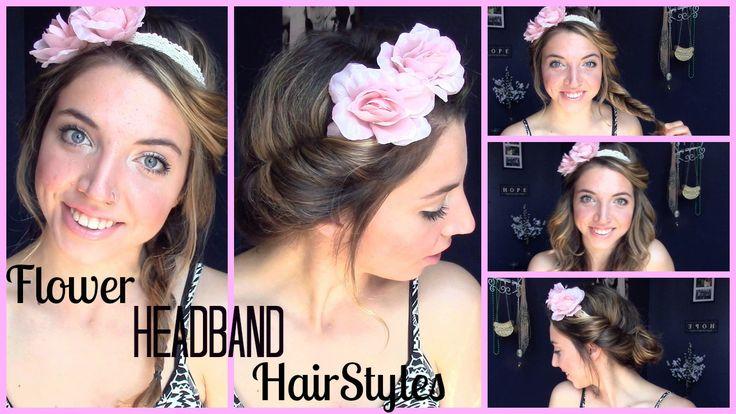new video!!!! heatless flower headband hairstyles