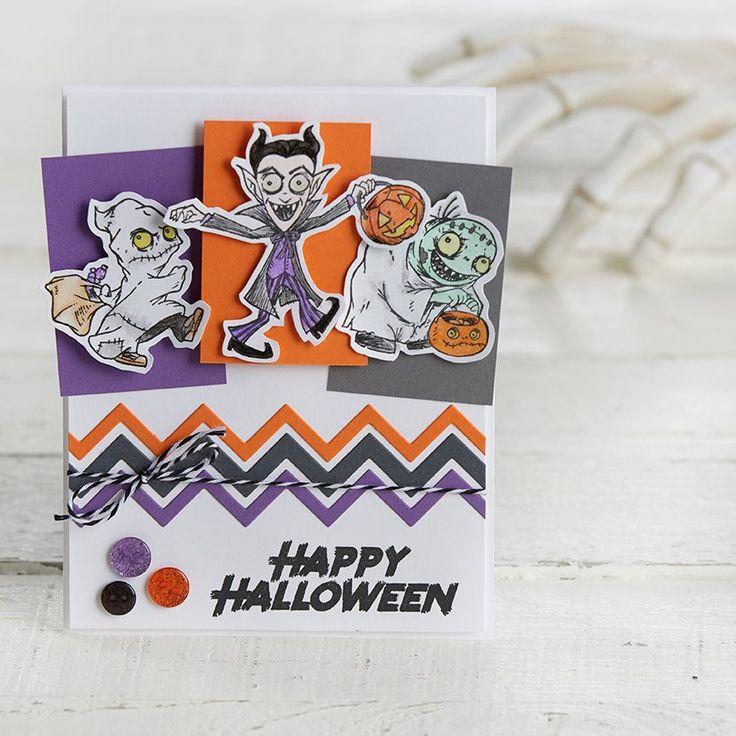 Creepy Kids Stamp & Die Set - Journey Holidays Trends Mini Catalog Aug-Dec 2017