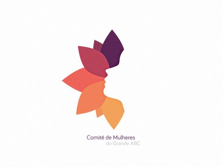 Couleur - Ici, le designer a utilisé un spectre de couleurs analogues. Les formes représentent des pétales de fleur et on peut même apercevoir un visage en négatif.