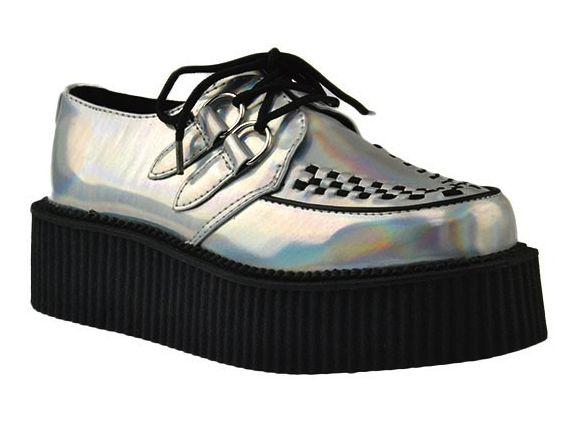 Una bomba- IRIDESCENT MONDO CREEPER - T.U.K. Shoes - Designer Women's Shoes