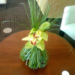 Tropical Engagement Party Cocktail Decor by Life in Bloom #orchids