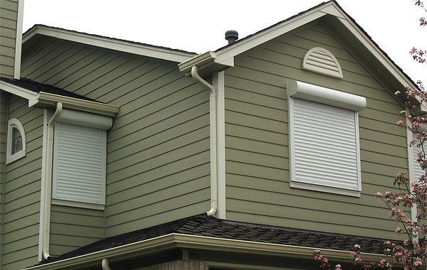 Best 25 rolling shutter ideas on pinterest - Aluminum window shutters exterior ...
