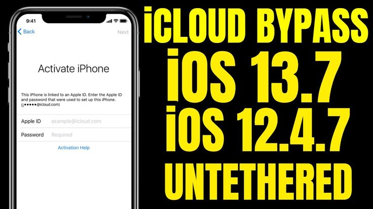 Free icloud bypass 137 to ios 1247 untethered full