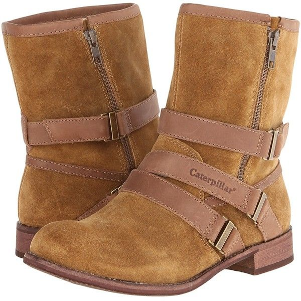 Caterpillar Casual Paula Women's Boots, Brown ($60) ❤ liked on Polyvore