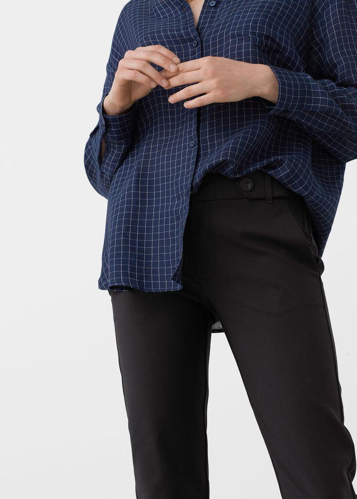 Хлопковые брюки с карманами | MANGO МАНГО