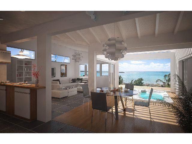 Immobilier Guadeloupe, APPARTEMENTS NEUFS DE STANDING FACE A LA MER LES PIEDS DANS L'EAU