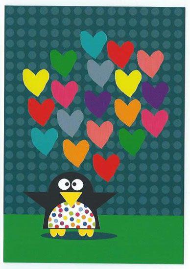 Papierdier - Clémence G - pinguin hearts