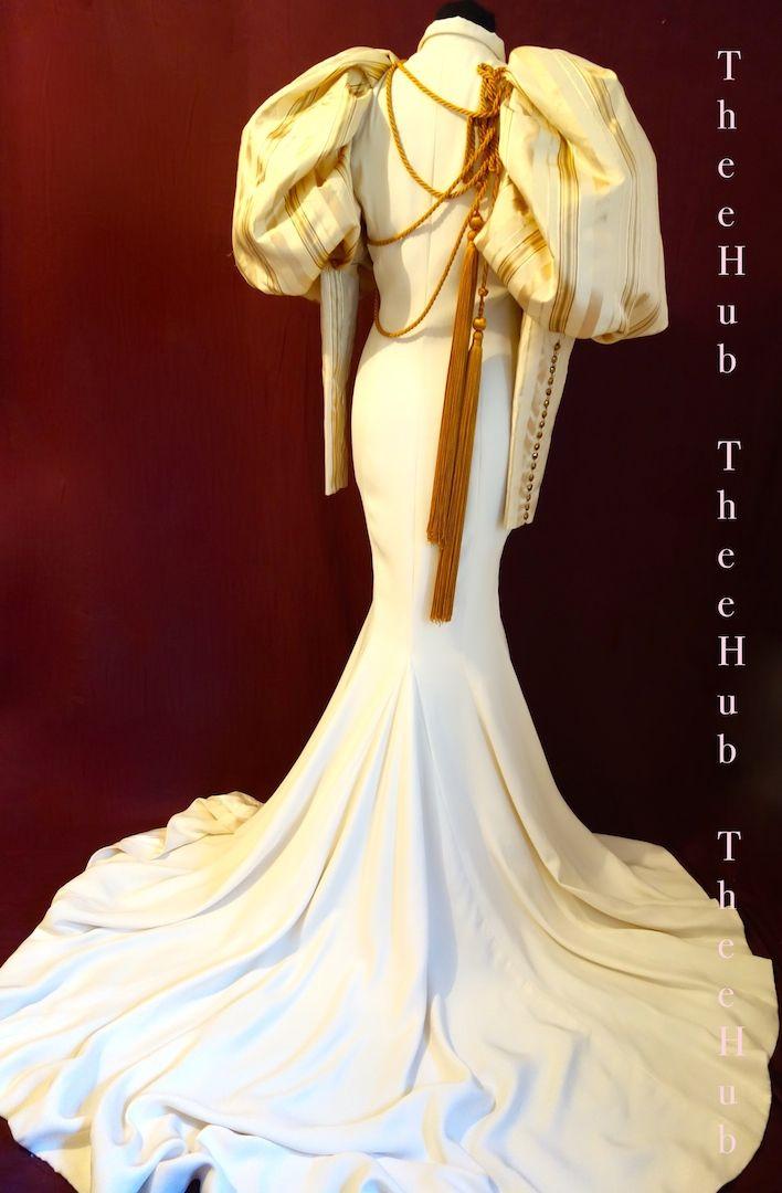 21st cent parisienne haute couture julien fournie 'dreams' runway collection wedding dress