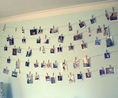 Pictures- College is all about memories, maybe all of our friends that come over and ourselves could take pictures with a disposable camera, or just our friends and then get them processed and hung up!