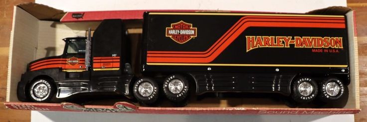 Nylint Metal Muscle Harley-Davidson Truck Sound Machine Model 370-Z Made in USA #Nylint #HarleyDavidson