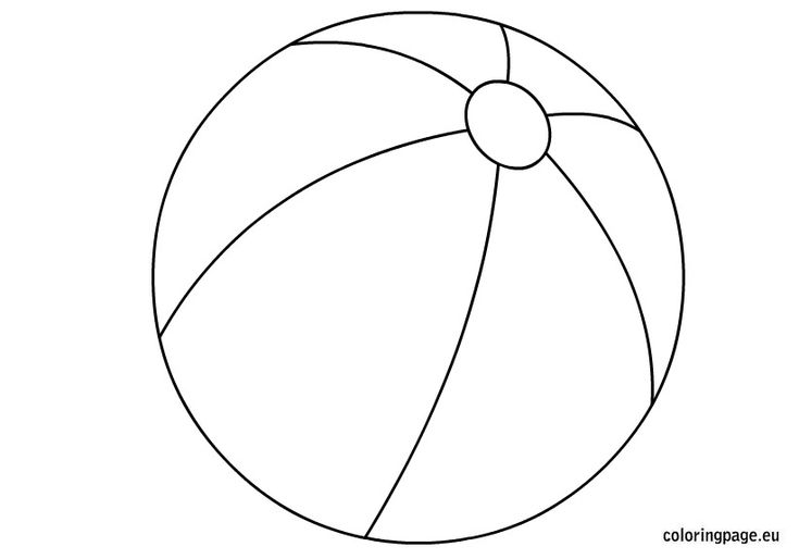 Beach ball coloring page.   Kid ideas   Pinterest