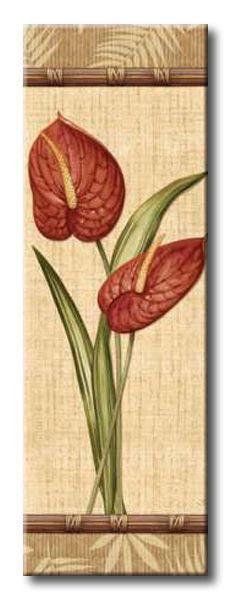 AUD_090_Fleurs Exotiques III / Cuadro Tapiz Flores Exoticas