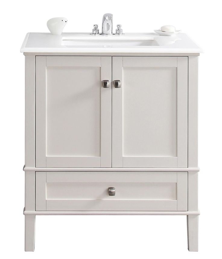 "Simpli Home Chelsea 31"" Bath Vanity, Soft White - Bathroom Vanities - Amazon.com"