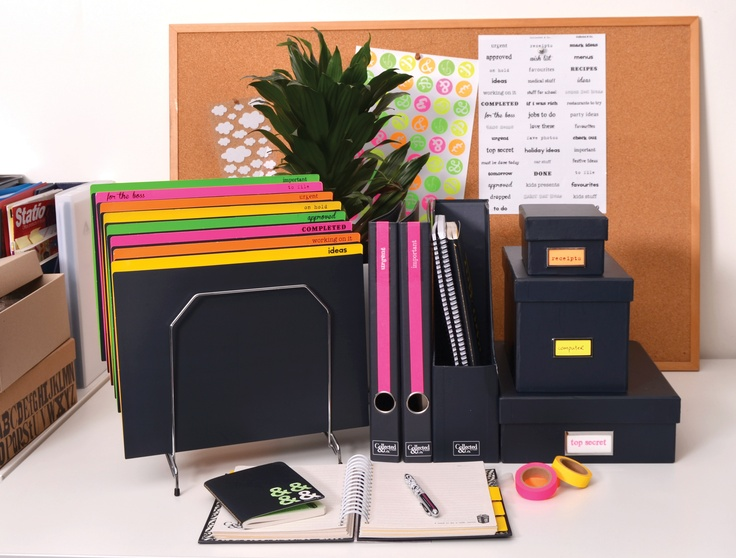 Get creative with Collected & Co. Bespoke Stationery. Starting with a sleek, modern basic product, use paper tape and retro-styled stick ons to customise your space.