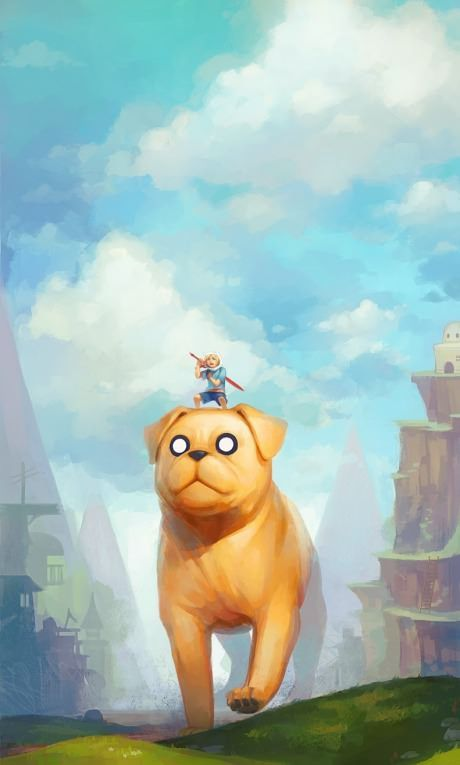 Fantastic Adventure Time fan art. I'd like to have a Jake in my life haha #adventuretime #finn #jakethedog