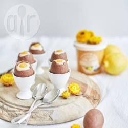 White Chocolate Cheesecake Easter Eggs with Lemon Curd @ allrecipes.com.au
