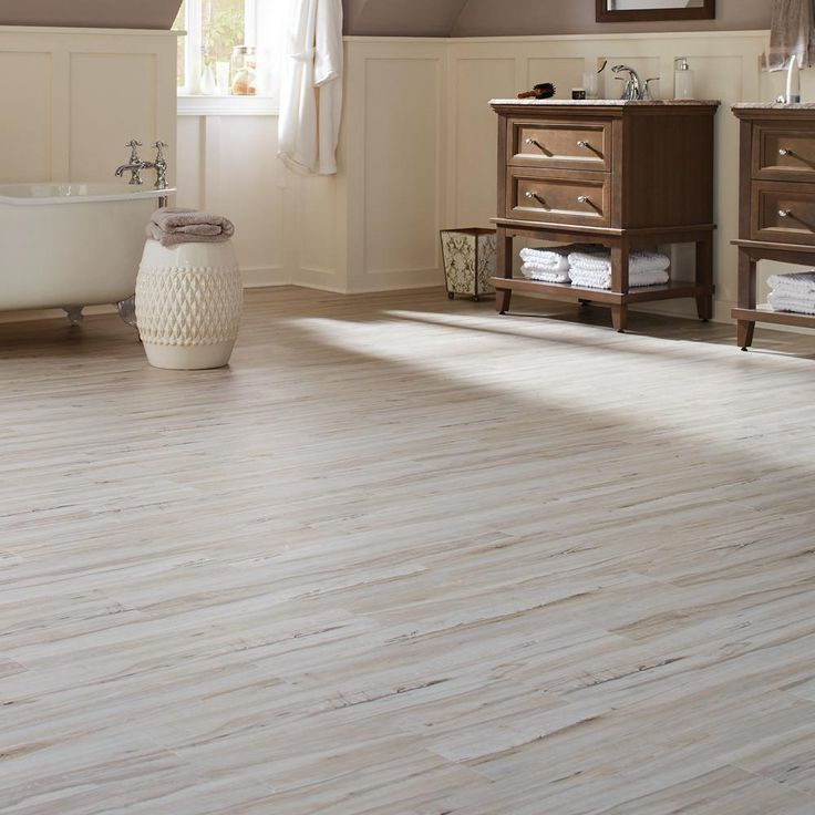 White Maple Resilient Vinyl Plank Flooring (24