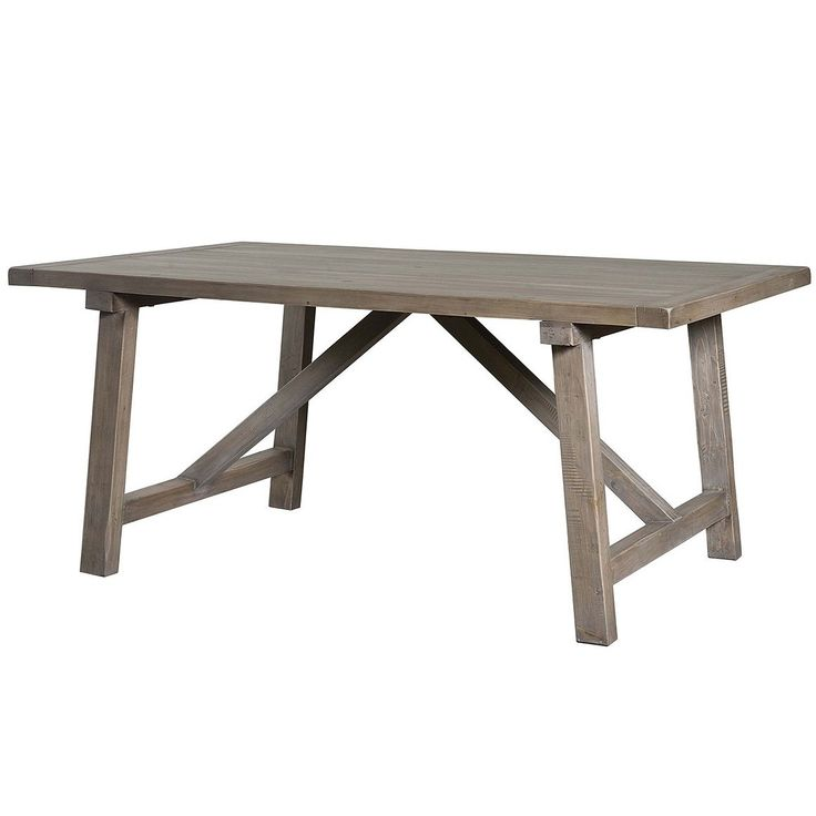 Grey Wash Simple Farm Table