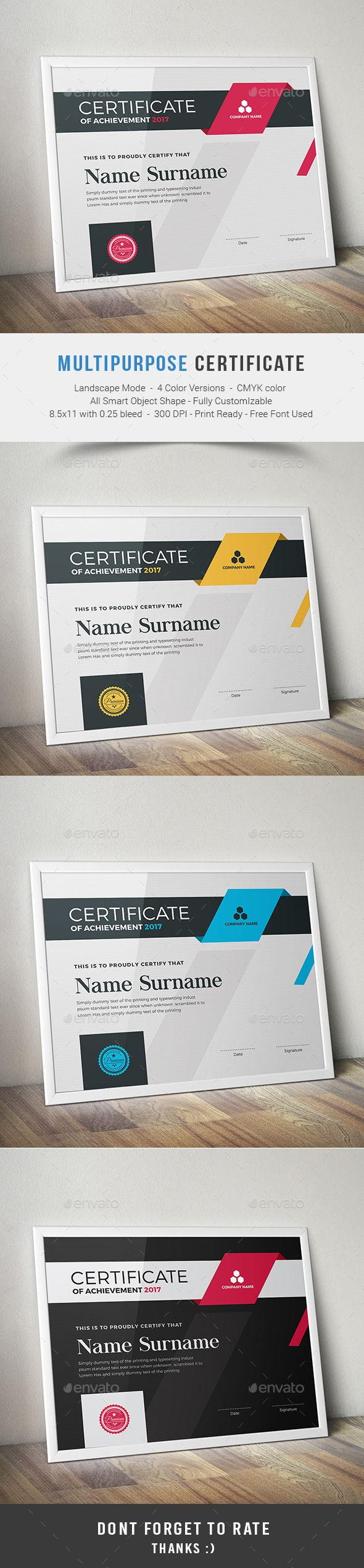 Multipurpose Certificates Template PSD. Download here: http://graphicriver.net/item/multipurpose-certificates/16063617?ref=ksioks