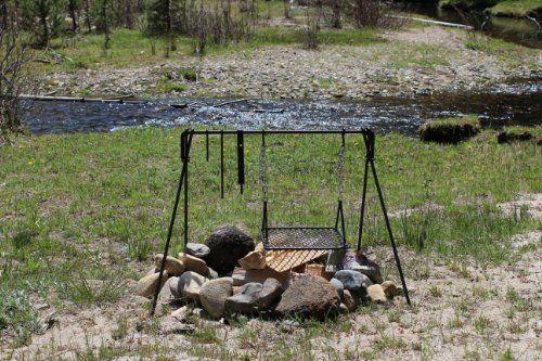 Frontier Campfire cooker BBQ cooking grill CampfireBlacksmith http://www.amazon.com/dp/B00K94SLIU/ref=cm_sw_r_pi_dp_dwZ8ub1ER07QJ