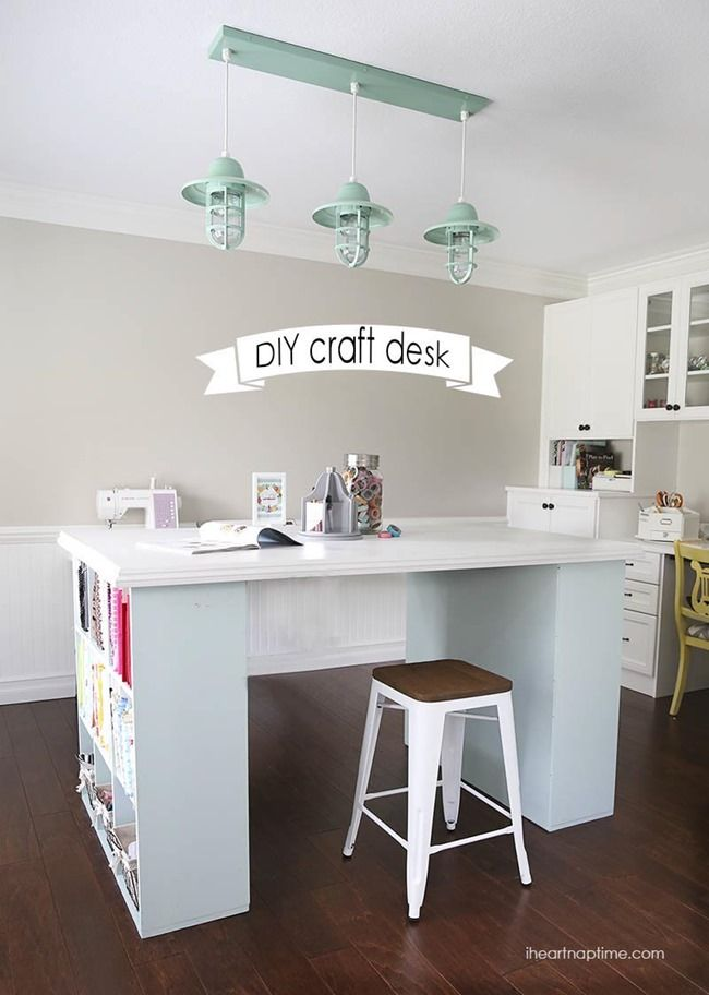 DIY Craft Room Desk - Fabric