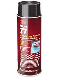 3M Super 77 - Environmentally-Friendly Spray Adhesive. Great for mounting papers and prints to our panels.