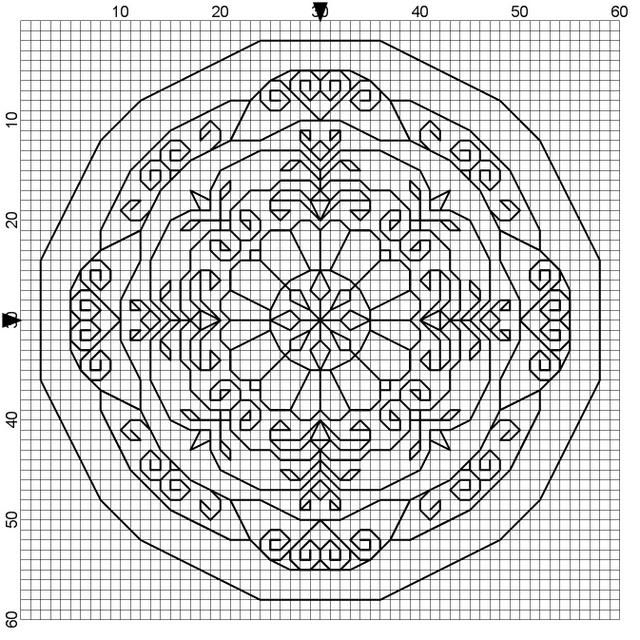 Using graph paper to draw mandalas