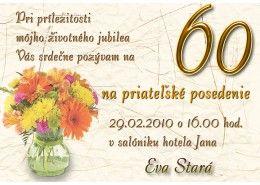 Pozvánka na oslavu jubilea - JU017
