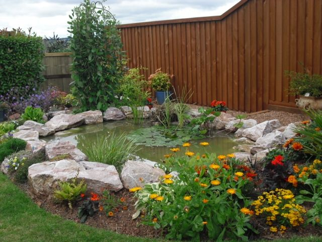 Rockery borders - ponds