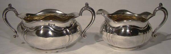 Queensland Bulldog Club Award Sterling Silver Cream & Sugar 1916 by FionaKennyAntiques on Etsy