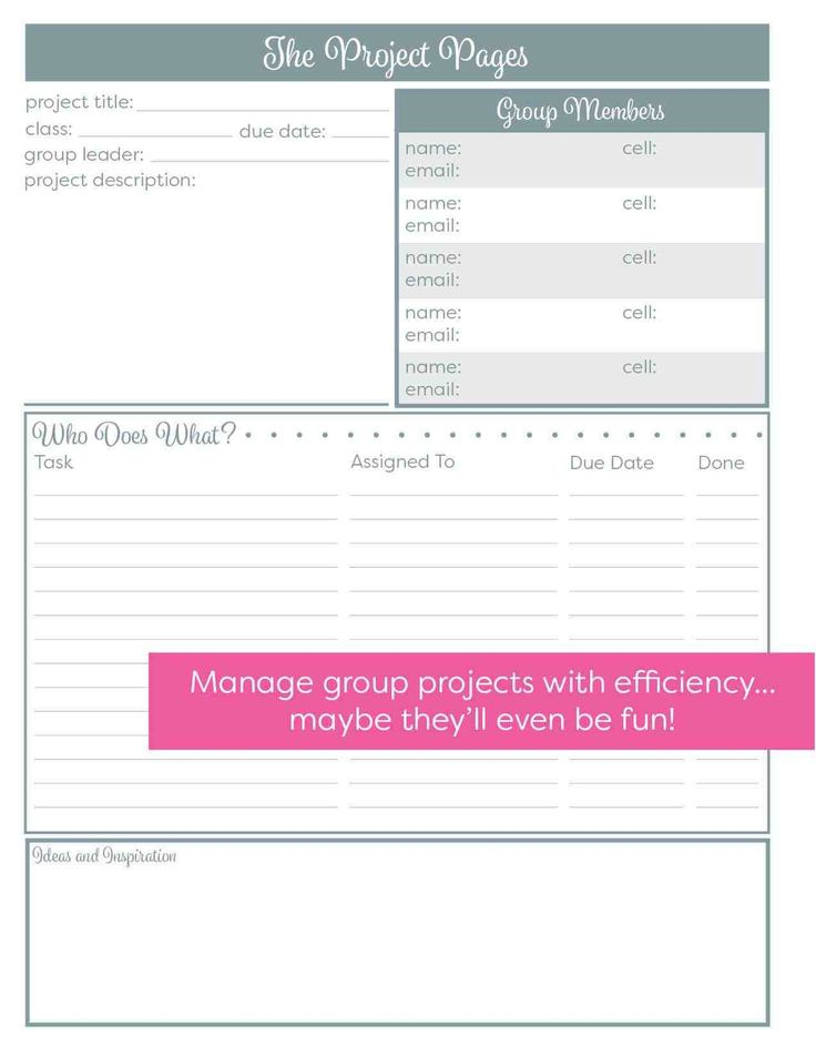 ProjectPages.jpg (1275×1650) School planner, Nursing