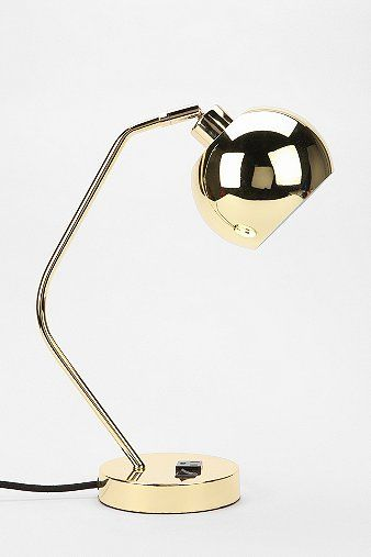 Two would be great as bedside lamps. The additional plug makes for convenient charging as well.  Sleek and vintage.