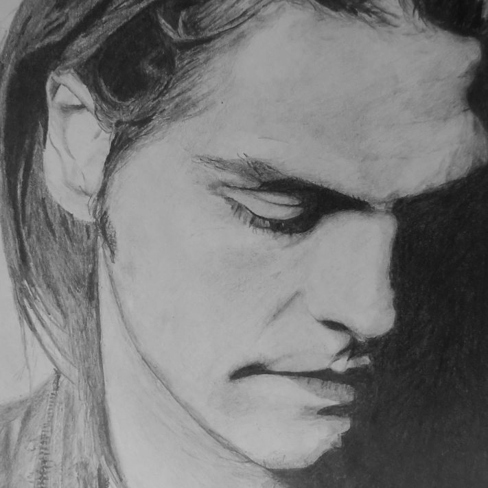 Gerard Way pencil drawing