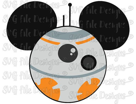 Star Wars Droid Mickey Mouse Ears Disney Layered Cutting File in Svg, Eps, Dxf, Png and Jpeg for Cricut & Silhouette